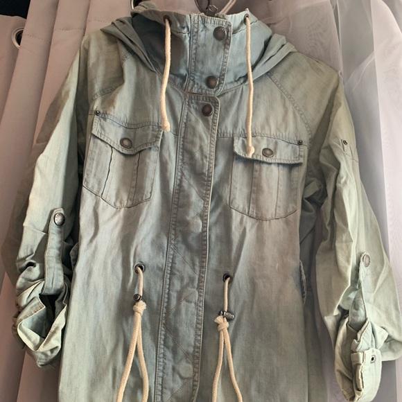 Garage Jackets & Blazers - Drawstring waist denim jacket